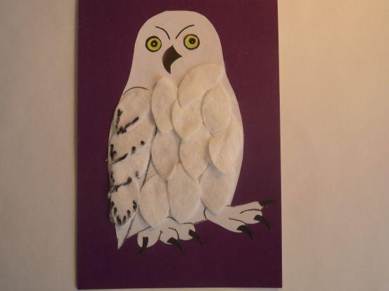 Картинки по запросу белая сова аппликация