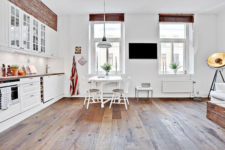 Härlig öppen planlösning mellan kök och vardagsrum