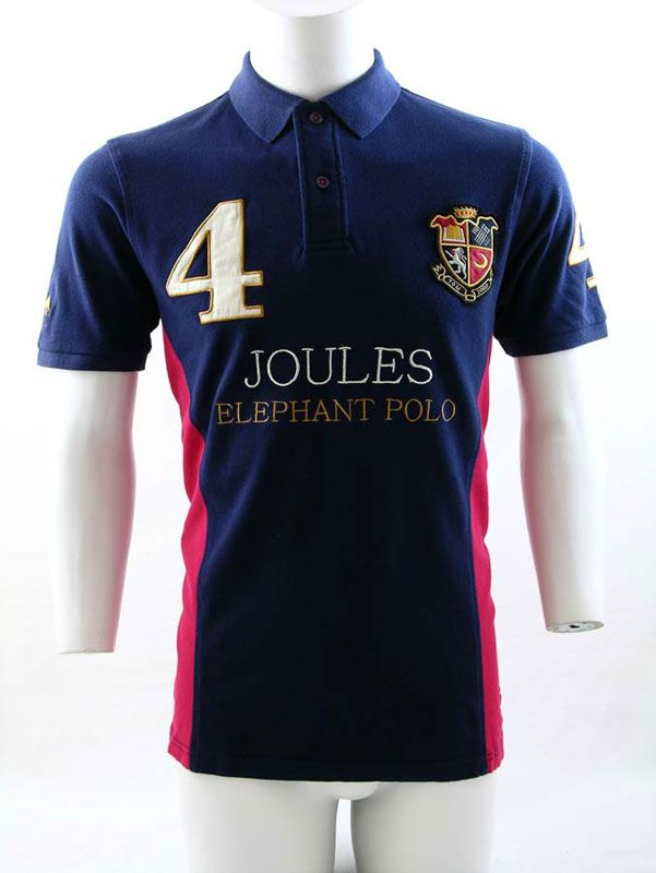 Joules Chepwick Elephant Polo Shirt Navy was 49.95 now £39.99