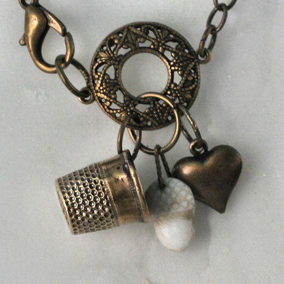 369 best diy thimble images on pinterest necklaces for Acorn necklace craft