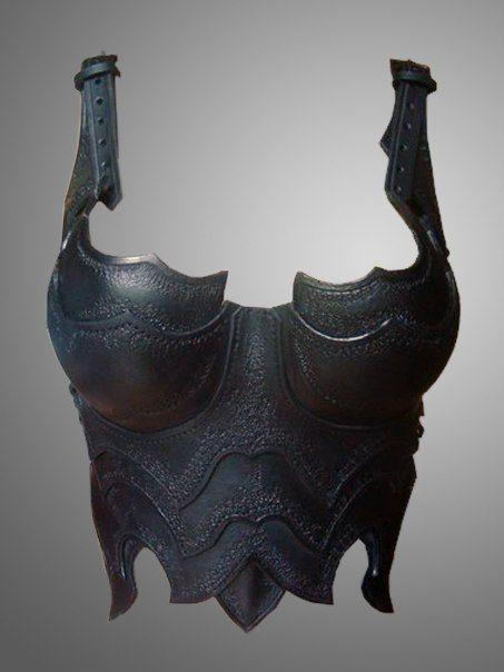 Guerrier de la Dame demi Corset  poitrine sombre par IronWoodsShop