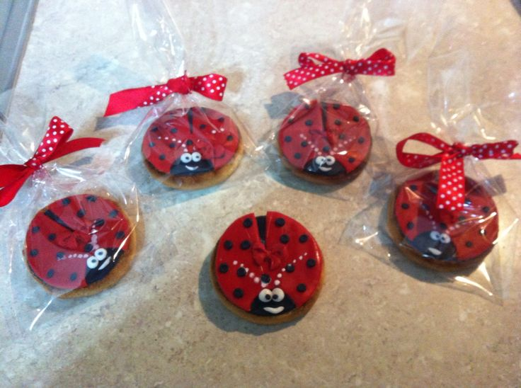 Lady bugs cookies, biscotti coccinella