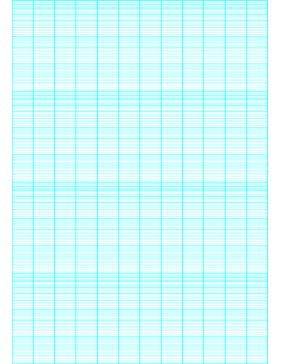 This semi-logarithmic, or semi-log, graph paper with 12 divisions by 4 cycle segments helps when performing a semi-log plot to visualize data that has an exponential relationship. Ideal when graphing variables when there is a large range of values on one axis. Free to download and print