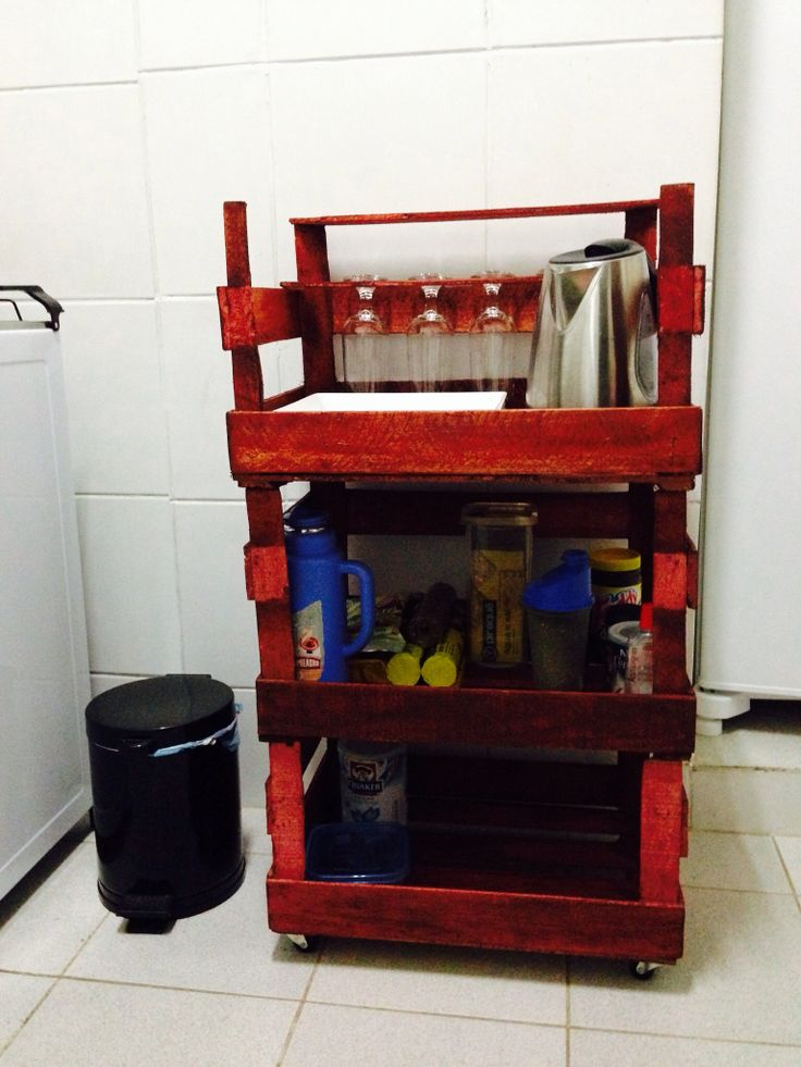 Diy mueble de cocina con caja de frutas cocina for Mesa con cajas de fruta