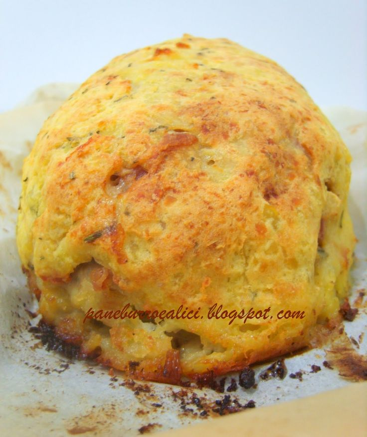 """Pane, burro e alici: Il polpettone!....si, ma """"saporito""""!....e in crosta di patate!"""