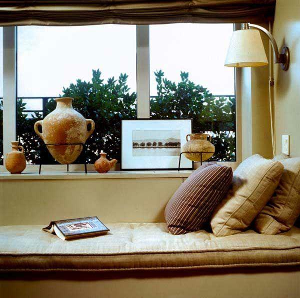 gemütliche fenstersitze und erkerfenster braune töne