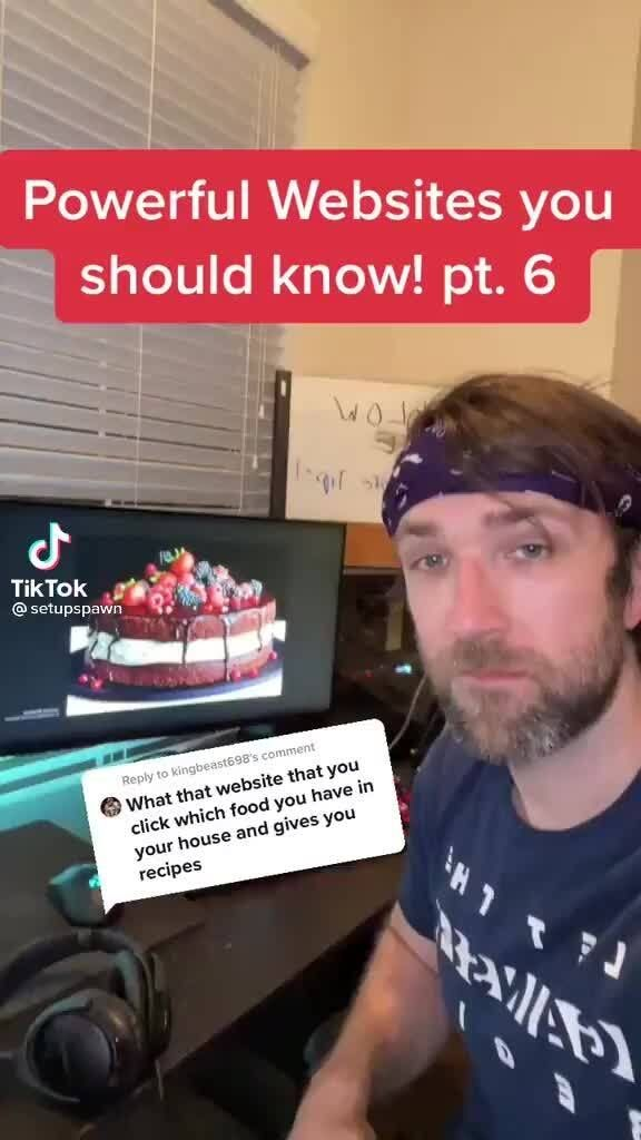 Powerful Websites You Should Know Pt 6 Tiktok Ifunny In 2021 Website Your Recipe Food