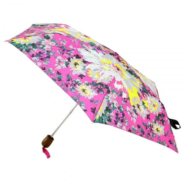 Joules Womens Brolly Dark Pink Floral