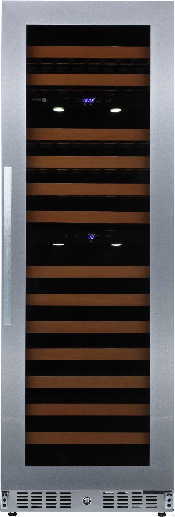 Automatic door details by borolo doors and windows doors rare - Fagor Wc118tz 24 Inch Tower Wine Cooler With 118 Bottle Capacity 3 Temperature Zones Stainless Steel Doorswine Refrigeratordoor