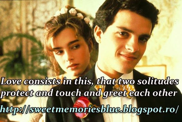 sweet memories: Love consists in this, that two solitudes protect ...