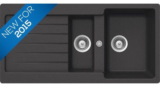 Bluci Orbit G150 1.5 Bowl Black Granite Sink