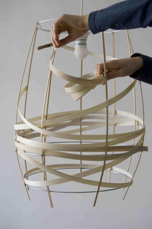Lamp in fineerhout