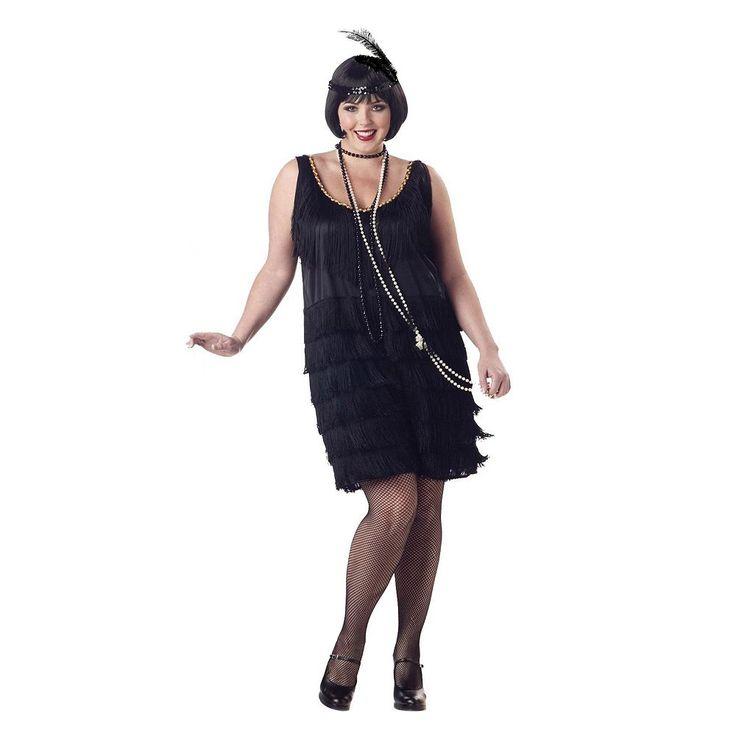 Plus Size Flapper Costume - Adult Plus, Women's, Black
