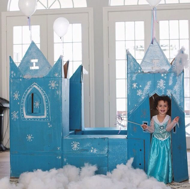 Cardboard ice castle?