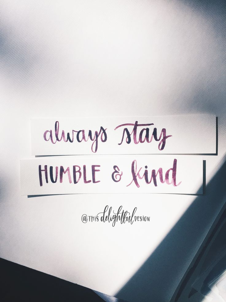 Always Stay Humble and Kind | Lyrics | Hand Lettered | Lettering | Tim McGraw song | Home Decor | Signage | Sign | Inspiration || Watercolor | Quote | Inspirational || This Delightful Design by Katie Clark