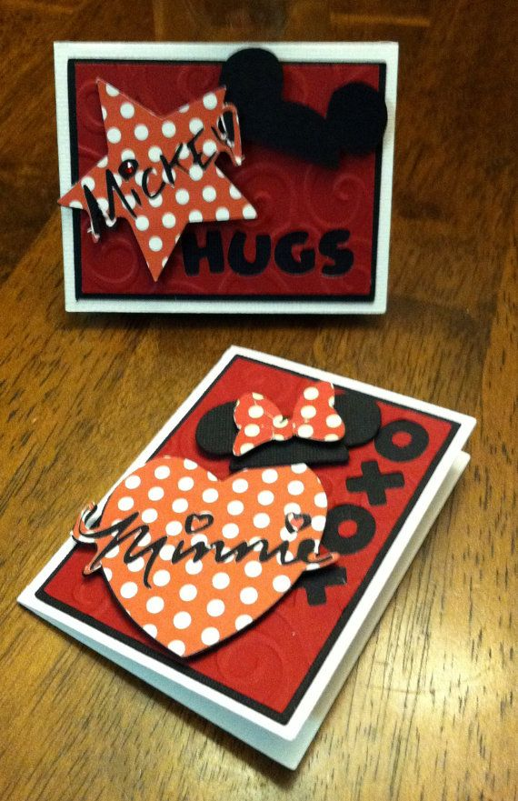 Check these out Jessi!!  Minnie & Mickey Valentines set of 20 by ATime2beeunique on Etsy, $12.00