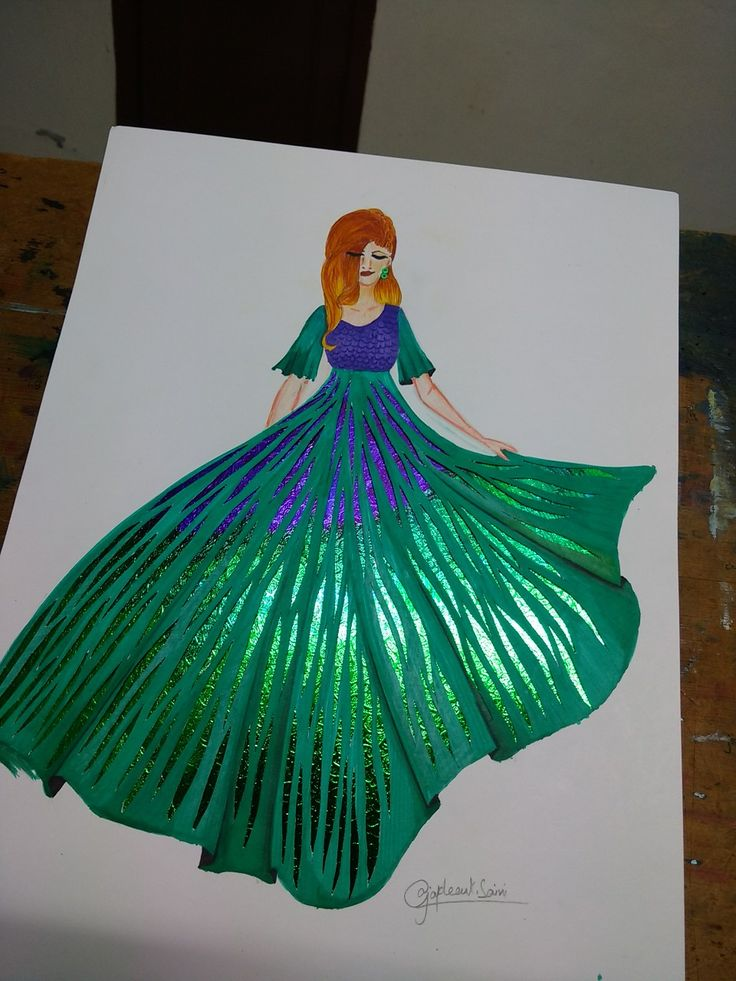 Fashion illustration paper cutting art