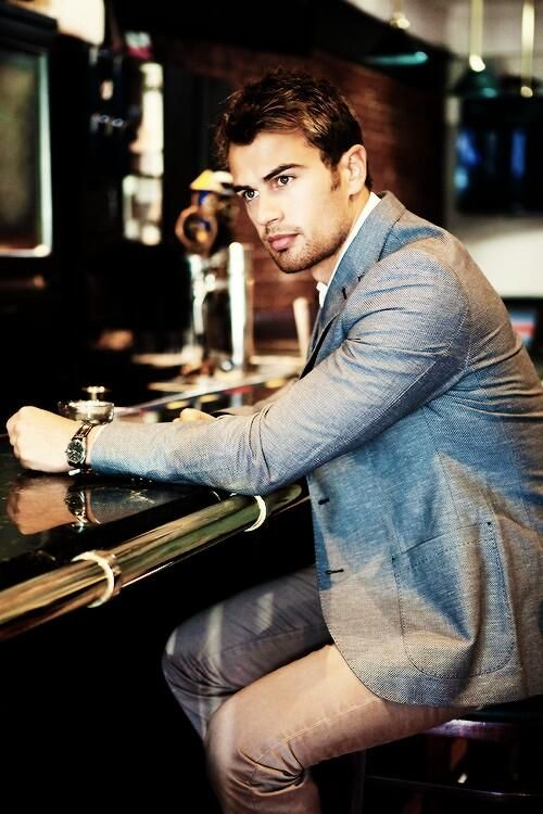 Theo James..... I think I just fell in love! One handsome man!