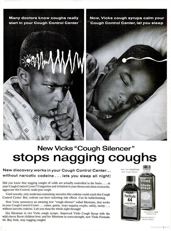 Vicks Formula 44 Cough Syrup (1962)