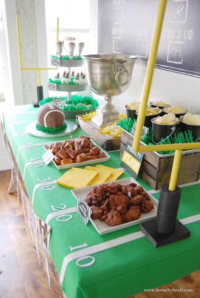 Football Frenzy themed birthday party via Kara's Party Ideas KarasPartyIdeas.com…