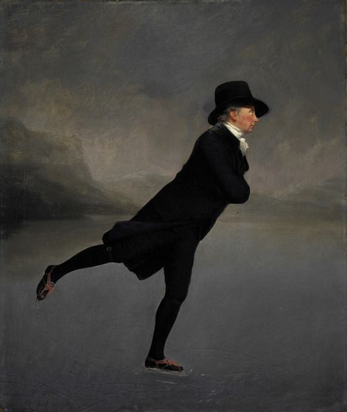 The Reverend Robert Walker Skating on Duddingston Lochis a painting by Sir Henry Raeburn. The painting is also dubbed The Skating Minister and depicts the Reverend Robert Walker who learned to skate as a young boy on the cold canals of the Netherlands. The painting, though originally forgotten and not of focus, was painted during Scotland's enlightenment period, thus making it an important remnant to the nation.