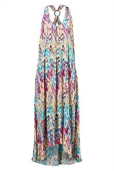 Strappy Trapeze Maxi Dress