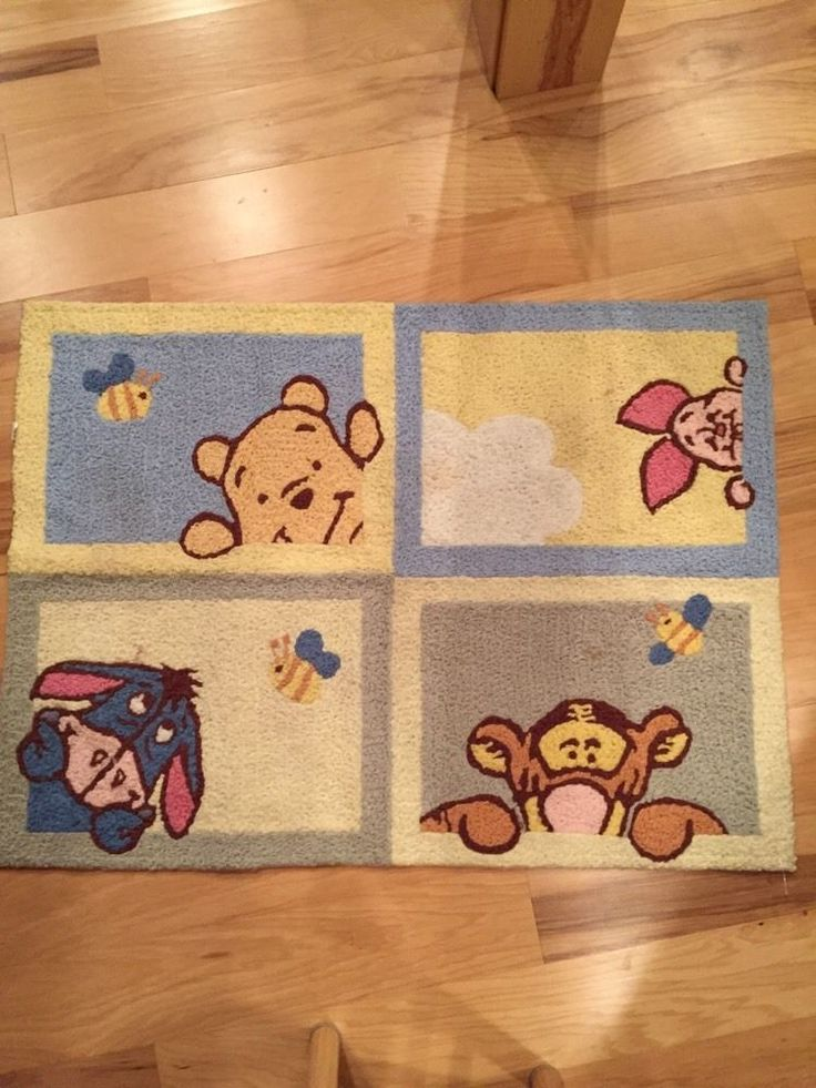 Large Winnie The Pooh Disney Rug Kidsline 30x40 In Baby, Nursery Décor,  Mats U0026