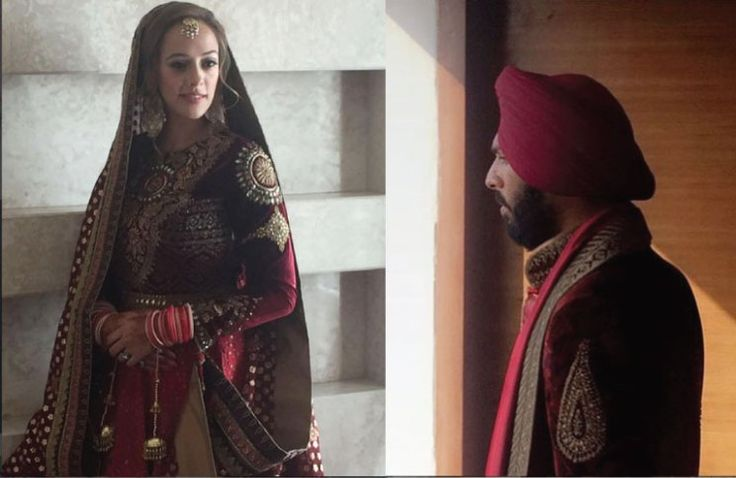 Yuvraj Singh's Pretty Punjabi wedding in Chandigarh | Yuvraj Singh and Hazel Keech ready to tie the know photos from their chandigarh wedding where yuvraj wears a jj valaya | via harpers bazaar bride | Witty Vows | The ultimate guide for the Indian Bride to plan her dream wedding. Witty Vows shares things no one tells brides, covers real weddings, ideas, inspirations, design trends and the right vendors, candid photographers etc.| #bridsmaids #inspiration #IndianWedding | Curated by…