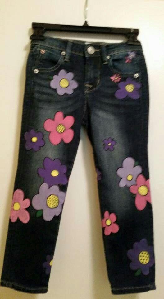 Handpainted children's jeans