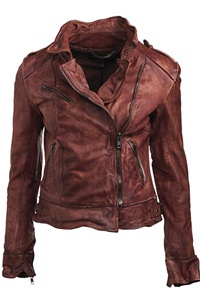 Muubaa Mallow Biker Jacket in Vintage RedWomen Fashion, Woman Fashion, Biker Jackets, Style, Clothing, Mallo Biker, Leather Jackets, Muubaa Mallow, Vintage Red