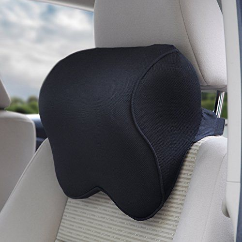Orthopedic Pillow Neck Head Support Elastic Strap Memory Foam Car Seat #HeadSupport