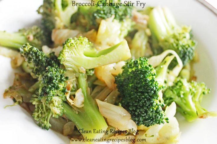 Clean Eating Dinner Idea – Broccoli-Cabbage Stir Fry | Clean Eating Recipes #cleaneating #eatclean #healthyrecipe