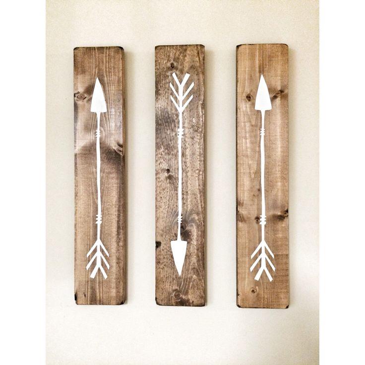 Rustic White Wooden Arrows - 3 Piece Set, Rustic Decor, Farmhouse Decor, Arrow Decor, Rustic Nursery Decor, Gallery Wall Decor, Wooden Arrow by cherrytreegallery on Etsy https://www.etsy.com/listing/235795372/rustic-white-wooden-arrows-3-piece-set