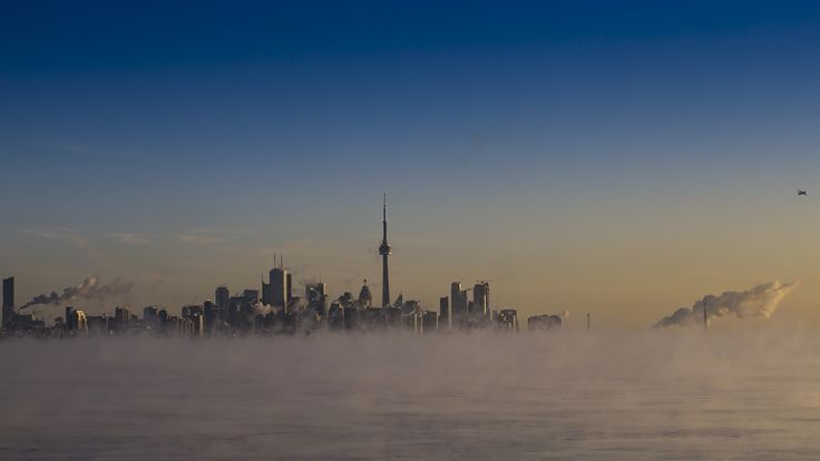 Cloud City - Mist off Lake Ontario in - 25 Celcius weather.