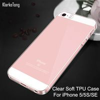 Ultra Thin Crystal Clear Transparent Silicon Case For iPhone 5 5S SE Soft TPU Shell Phone Cases