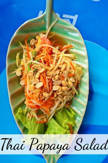 The best Thai street foods to try at a Bangkok market in Thailand. Chatuchak market (or JJ market to locals) is known for their delicious Papaya salad and other dishes.