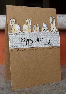 http://helenscrafthaven.blogspot.co.uk/2013/03/bunny-friends.html Fände ich als Osterkarte sehr, sehr schön!