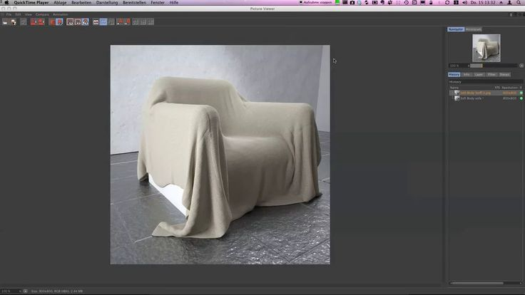 A little tutorial for making a cloth simulation with C4d only with softbodys and dynamics.