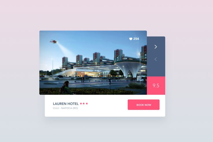 Hotel Booking Widget With Rating : Cerpow