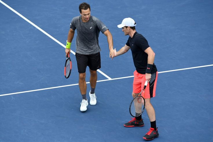 August 31, 2017 - Jamie Murray and Bruno Soares in action against Julian Knowle and Alexander Peya at the 2017 US Open.