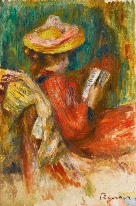 Pierre-Auguste Renoir - Jeune fille lisant, c. 1895 #arte