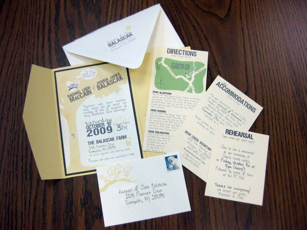 DIY wedding invites from Cards & Pockets. Lots more on the website. Cheap envelopes.