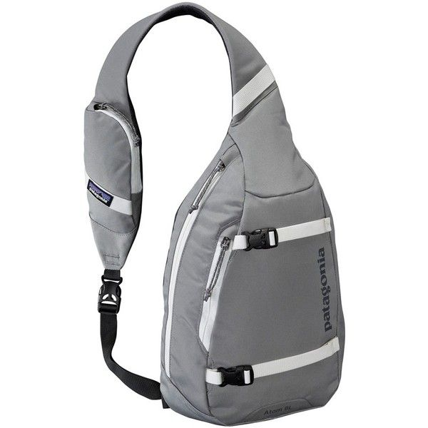 Women's Patagonia 'Atom' Sling Backpack ($49) ❤ liked on Polyvore featuring bags, backpacks, feather grey, backpack sling bag, woven backpack, patagonia, backpack bags and patagonia backpacks