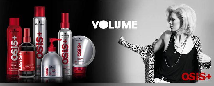 OSIS VOLUME Volume esagerato con i prodotti Osis.