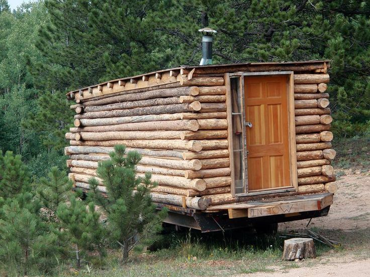 log cabin on wheels cabin pinterest. Black Bedroom Furniture Sets. Home Design Ideas