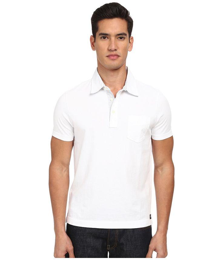 JACK SPADE JACK SPADE - SOLID WARREN POLO (OPTIC WHITE) MEN'S CLOTHING. #jackspade #cloth #
