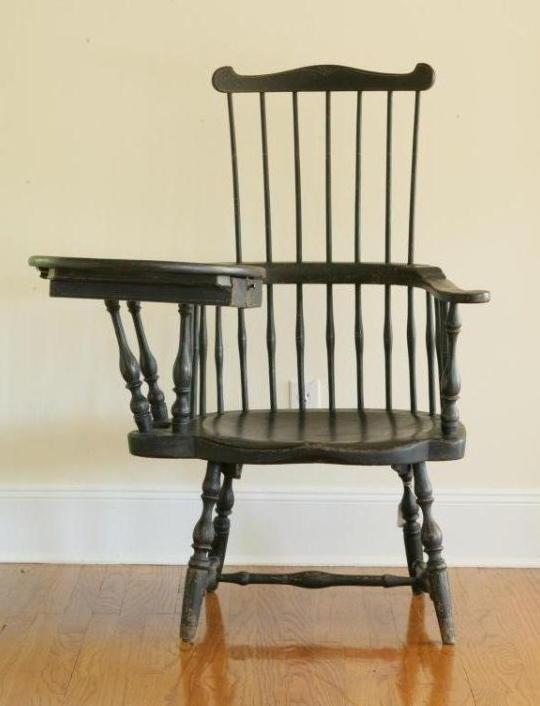 Early american writing arm chair
