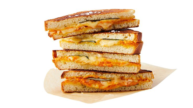 What to do with that unfinished can of pumpkin puree? Use it as a rich and creamy way to take a grilled cheese from good to gourmet.