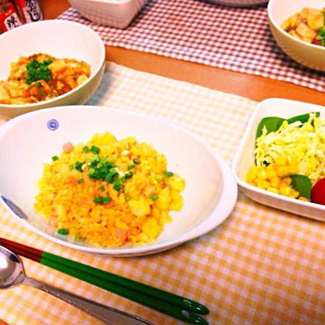 今日は簡単! - 13件のもぐもぐ - 麻婆豆腐、チャーハン、サラダ。 by asumi1022