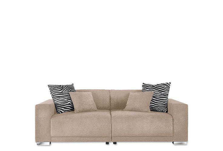 #Big-Sofa #natur - Tolles Megasofa-Programm mit 2 losen Rückenkissen in…